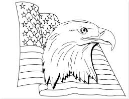 American Flag Coloring Pages And Bald Eagle