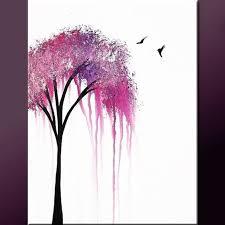 Art Club Abstract Tree PaintingEasy
