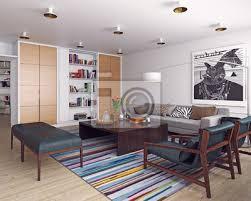 modernes wohnzimmer interieur poster myloview