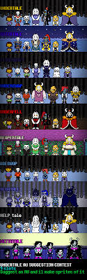 Undertale AU List Suggestion Competition By Toreodere