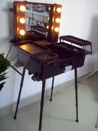 Beautifully Idea Portable Makeup Vanity With Lights Lighted Case