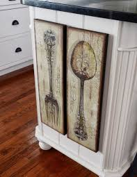 large wooden fork and spoon wall hanging placed spoon and fork wall decor home design stylinghome