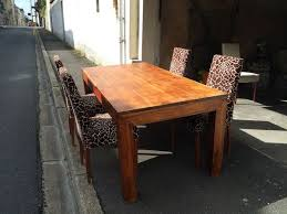 table cuisine bois exotique maison de luxe miami floride vivons maison table cuisine