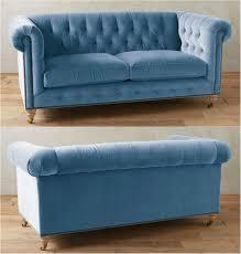 Tufted Velvet Sofa Bed by Sky Blue Tufted Velvet Chesterfield Sofa Chesterfield Fabric