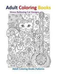Adult Coloring Books Stress Relieving Patterns Cat Designs