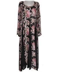 Black Purple Mauve Lilac Floral Pastel Maxi Long Dress Rayon Summer Grunge 90s Vintage