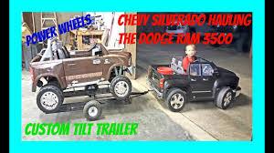 100 Power Wheels Chevy Truck Ride On Silverado 12 Volt Hauling The Dodge Ram