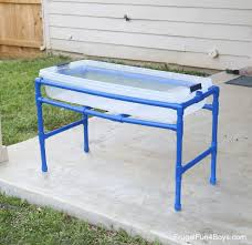Sand U0026 Water Tables For by Water Tables For Kids Diy Pvc Pipe Sand And Water Fun Crafting News
