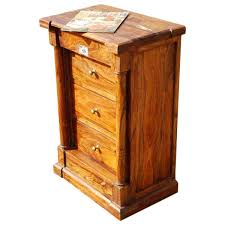 Rustic Honey Maple 3 Drawer End Table