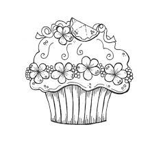 View Larger Free Coloring Pages Of Birthday Cupcakes Printable Kids