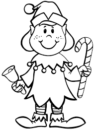 Elf Coloring Pages In Christmas
