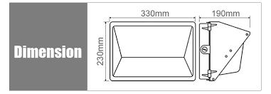 90 277v photocell mini led wall pack light 60w motion sensor