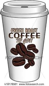 Clipart Of Coffee To Go Cup Design Fresh Roast K18178561