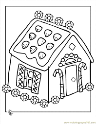 Beautiful Gingerbread House Coloring Page 64 In Pages For Kids Online With