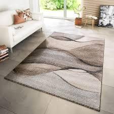 teppich modern meliert wellen beige grau