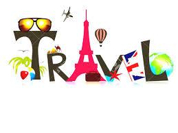 Adventure Travel Clipart World Suitcase Stock Vector Illustration