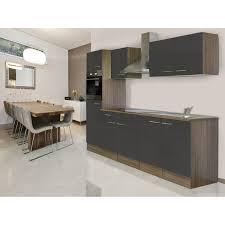 respekta küchenzeile ohne e geräte 270 cm grau seidengl eiche york