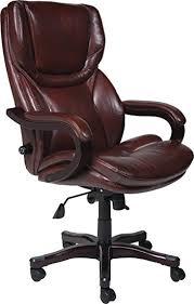 amazon com serta bonded leather big tall executive chair brown