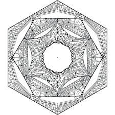 Mandalas Coloring Pages For Adults Printable Mandala Adult Heart Detailed
