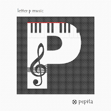 Needlepoint Canvas Letter P Music