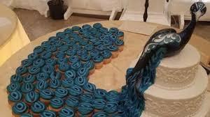 Peacock cupcake wedding cake exists to make you jealous