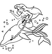 Dolphin And Mermaid Coloring Page