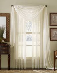Striped Sheer Curtain Panels by Sheer Curtains For Large Windows Platinum Voile Flowing Sheer