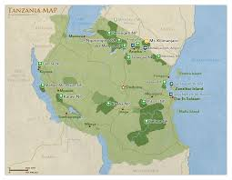 Map Of Tanzania With National Parks And Highlights