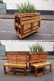 Pallet Planter With Potting Table