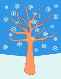 Winter tree printable graphic