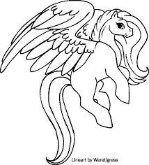 Cartoon Pegasus Coloring Pages Unicorn Adult Books Pinterest Free At With