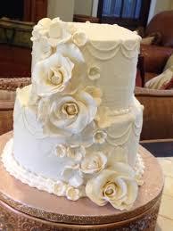 Plumeria Cake Studio Traditional Buttercream Wedding Cake