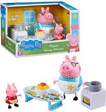 peppa pig unordentliche küche spielset figur peppa wutz papa wutz