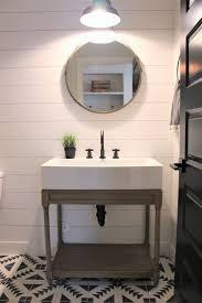 Guest Half Bathroom Decorating Ideas by Best 25 Modern Farmhouse Powder Room Ideas On Pinterest Half