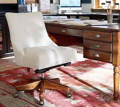 Pottery Barn Office Desk Chair by Manchester Swivel Desk Chair Espresso Stain Frame With Antique