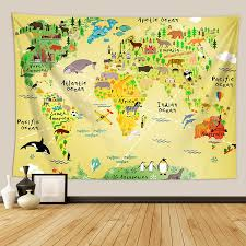 tapestry world map hanging painting dormitory decoration family living room bedroom tapestry background wall tapestry