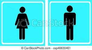 toilette femme wc icônes vecteur homme bleu clip