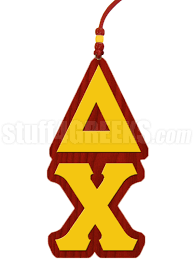 Delta Chi Greek Letter Tiki Necklace