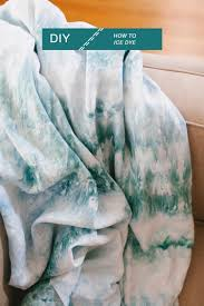 Blue Tie Dye Bedding by Goodbye Tie Dye Hello Ice Dye How To Create This Chic Look