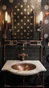 Steampunk Style | Masculine Bathroom, Bathroom Designs And Industrial Interior Steampunk Interior Design Modern Home Decorating Ideas A Visit To A Steampunked Modvic Stunning House And Planning 40 Incredible Lofts That Push Boundaries Astounding Bedroom 57 Further With Cool Decor Awesome On Room News 15 For Your Bar Bedrooms Marvellous 2017 Diy