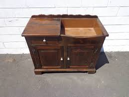 Antique Cabinet Chest Dresser Music Record Stand Buffet Dry Bar