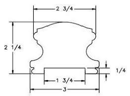 L J Smith LJ 6400P — Handrail Plowed 1 ¾