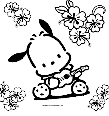 Hello Kitty Coloring Pages See More Pochacco