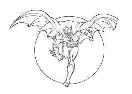 Animated Batman Coloring Pages Page To Print