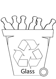 Click To See Printable Version Of Glass Recycling Bin Coloring Page