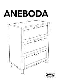 aneboda chest of drawers with 3 drawers 80x100x40 cm dr14 pub