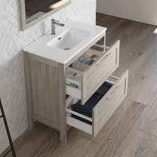 landhaus badezimmermöbel set mit hochschrank spiegel tarifa 110 kiefer grau b h t ca 135 200 45cm