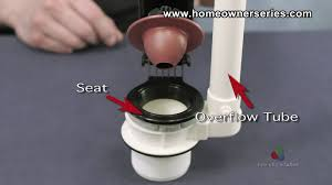 Tub Overflow Gasket Diagram by How To Fix A Toilet Flush Valve Replacement Part 1 Of 2 Youtube