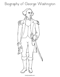 Biography Of George Washington Coloring Page