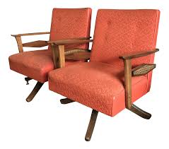 Mid Century Modern Swivel Rocker Lounge Chairs- A Pair Best Home Furnishings Xpress Steffen 1018 Mid Century Coaster Midcentury Modern Beige Rocking Chair Del Monte Traditional Blue Fabric Push Back Recliner Retro Upholstered Relax Rocker Grey Carson Carrington Honningsvag Midcentury Light Bridgeport Swivel Glider Yashiya J2funk Rockerswivel Choice Products Tufted Polyester Lounge W 360degree Details About Wrought Studio Raya